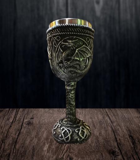 Taça Hidromel Dragão Prateado
