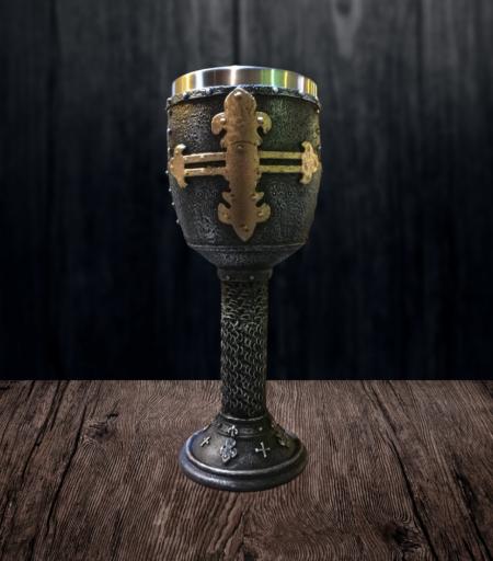 Taça Hidromel Cruz Dourada