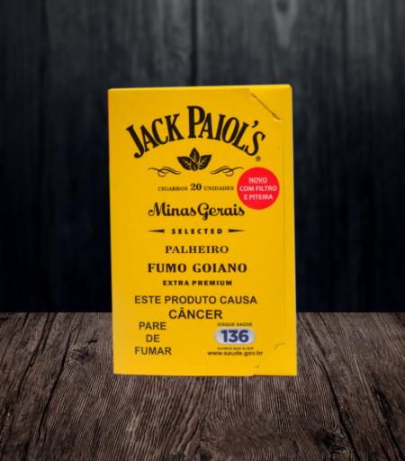 Cigarro de palha Jack Paiol's Fumo Goiano com filtro e piteira
