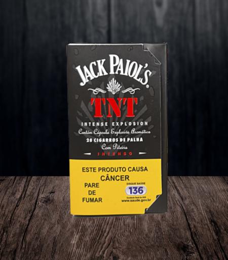 Cigarro de palha Jack Paiol's TNT com cápsula aromática e piteira